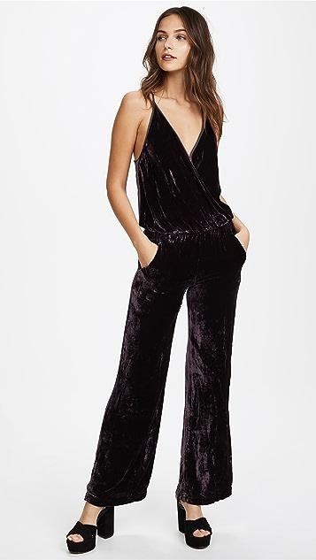 Young Fabulous & Broke Naomi Velvet Jumpsuit