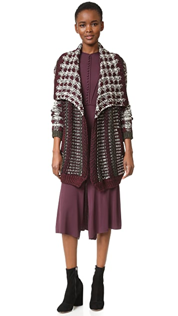 Yigal Azrouel Patchwork Cardigan