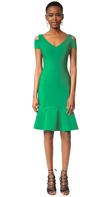 Yigal Azrouel Cap Sleeve Peplum Dress