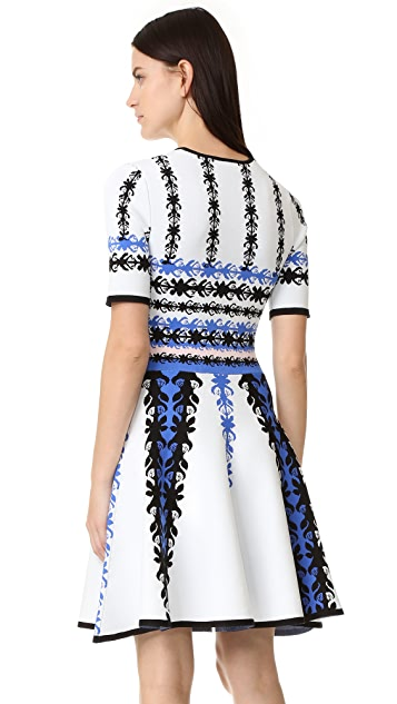 Yigal Azrouel Knit Fit & Flare Dress