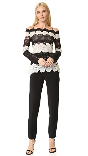 Yigal Azrouel Off Shoulder Lace Top