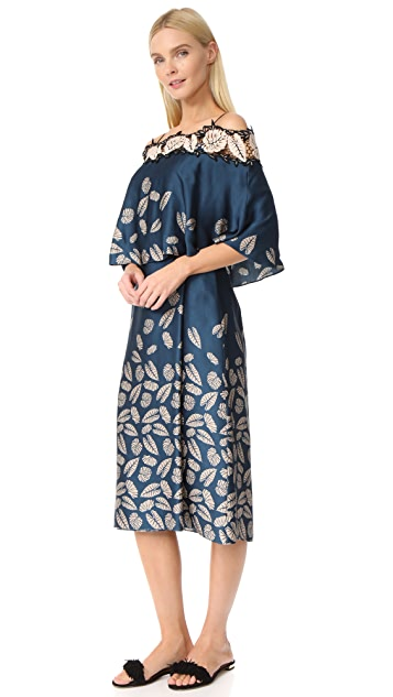Yigal Azrouel Printed Off the Shoulder Dress