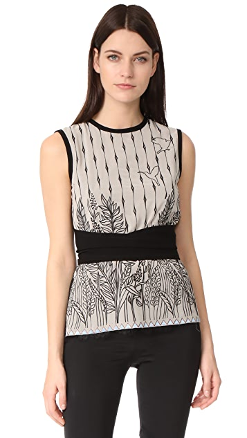 Yigal Azrouel Sleeveless Embroidered Top