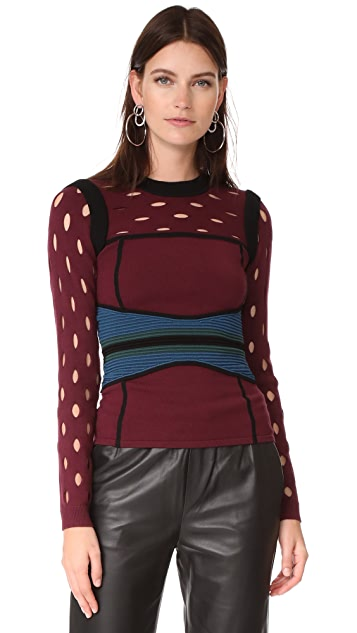Yigal Azrouel Colorblock Bustier Top