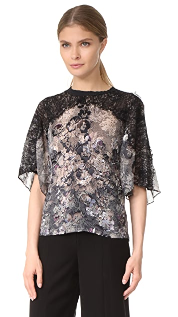 Yigal Azrouel Printed Burnout Tee