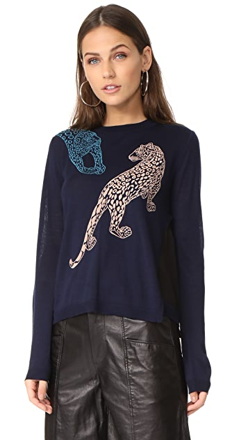 Yigal Azrouel Leopard Sweater