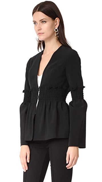 Yigal Azrouel Smocking Detailed Blazer