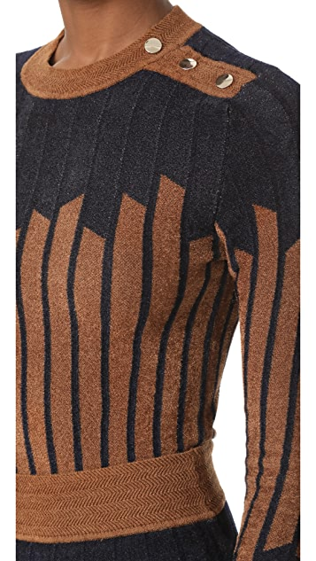 Yigal Azrouel Geometric Sweater