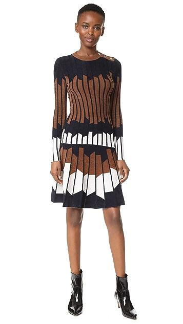 Yigal Azrouel Geometric Pleated Skirt