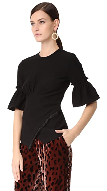 Yigal Azrouel Smocked Sleeve Top