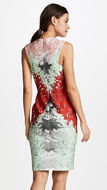 Yigal Azrouel Coral Print Dress