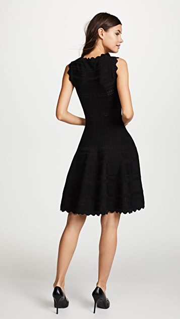 Yigal Azrouel Scarlet Circle Skirt Dress