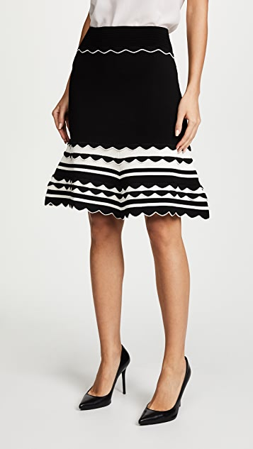Yigal Azrouel Knitted Strip Skirt