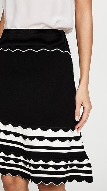 Yigal Azrouel Knitted Strip Skirt