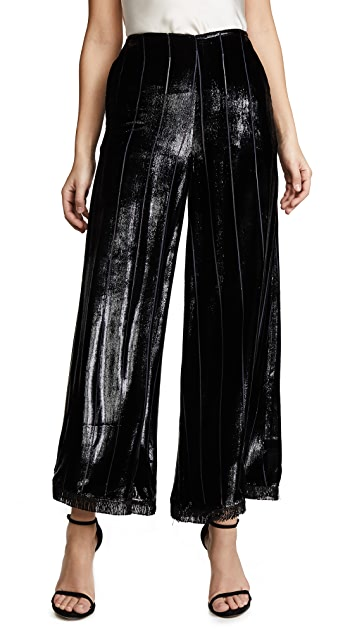 Yigal Azrouel Liquid Velvet Wide Leg Pants