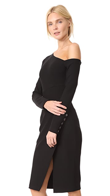 Yigal Azrouel 3/4 Sleeve One Shoulder Dress
