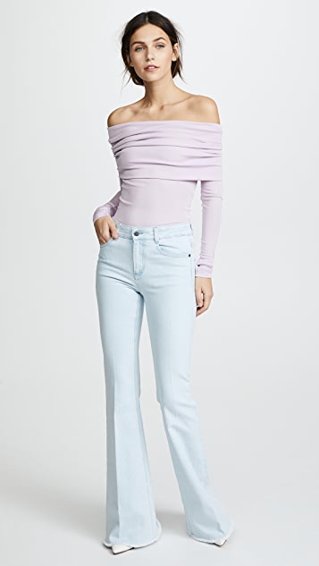 Yigal Azrouel OTS Long Sleeve Top