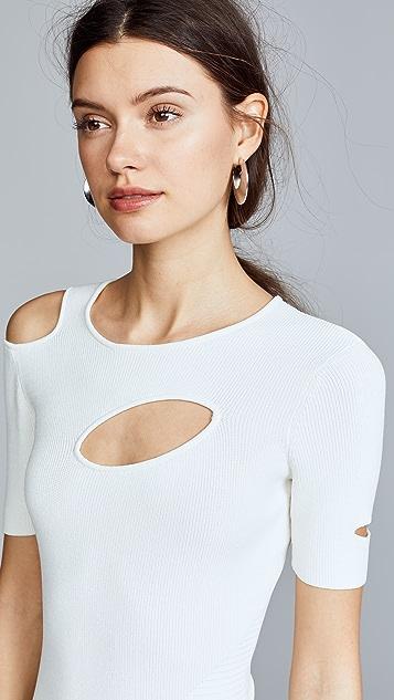 Yigal Azrouel Cutout Asymmetrical Dress