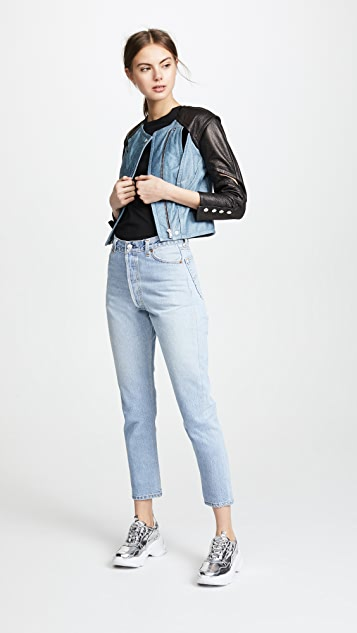 Yigal Azrouel Cropped Jacket with Seaming