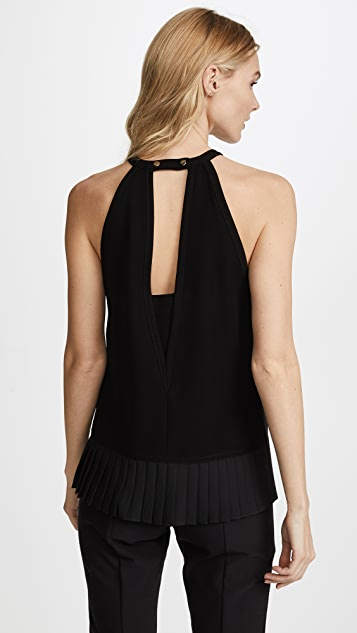 Yigal Azrouel Pleated Detail Halter Neck Top