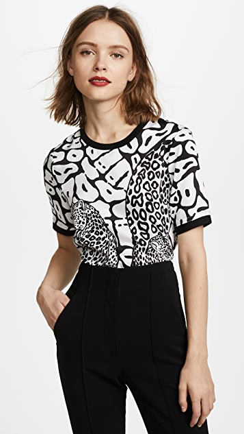 Yigal Azrouel Leopard Printed Tee