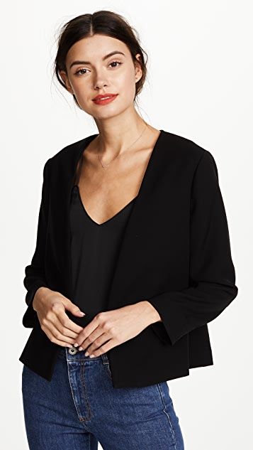 Yigal Azrouel Pleated Cropped Blazer