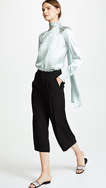 Yigal Azrouel Draped Blouse with Shoulder Slits