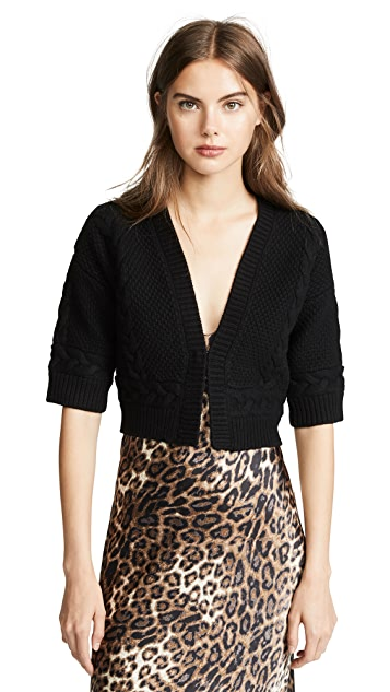 Yigal Azrouel Hand Knit Bolero Jacket