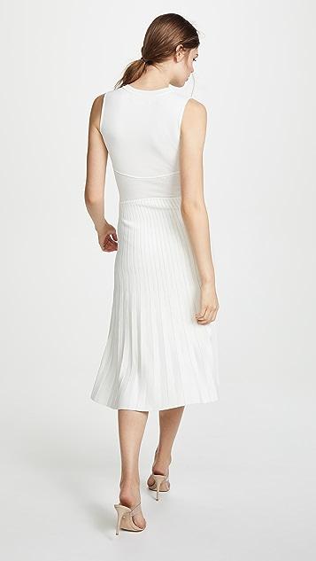 Yigal Azrouel Wrap Front Pleat Skirt Dress