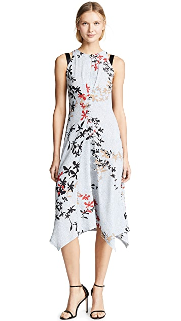 Yigal Azrouel Sleeveless Dress with Silver Bobbles