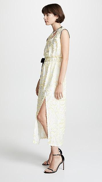 Yigal Azrouel Платье без рукавов с абстрактным узором «павлиний глаз»