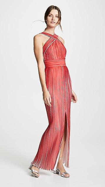 Yigal Azrouel Платье с американской проймой и складками в стиле оригами