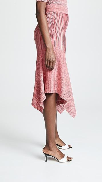 Yigal Azrouel Knit Pleat Skirt