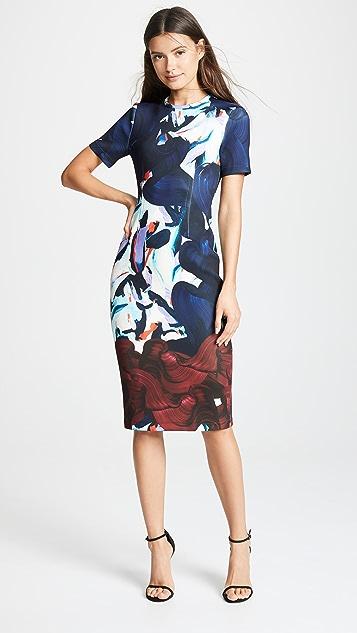 Yigal Azrouel Short Sleeve Scuba Dress