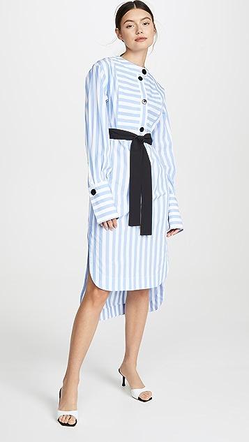 Yigal Azrouel Candy 条纹长衫式连衣裙
