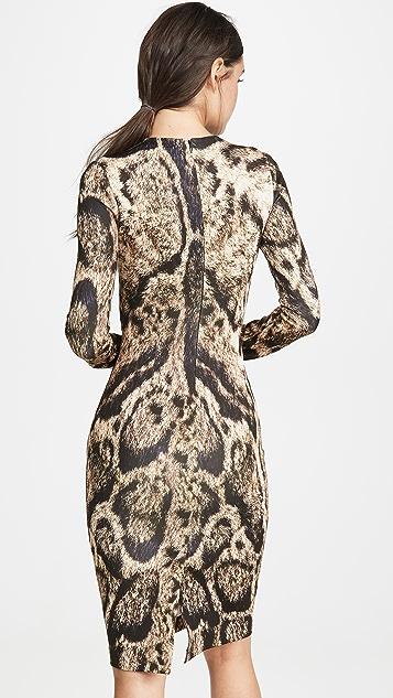 Yigal Azrouel Clouded Leopard Print Dress