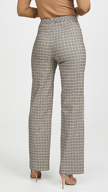 Yigal Azrouel Plaid Wide Leg Pants