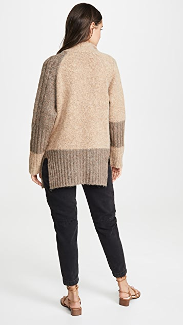 Yigal Azrouel Two Tone Patch Work Cardigan