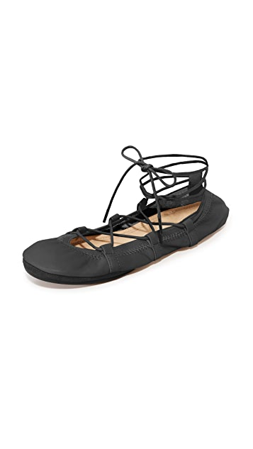 Yosi Samra Seleste Lace Up Flats