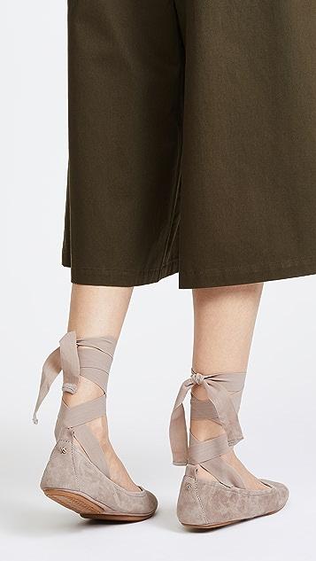 Yosi Samra Stella Tie Ballet Flats