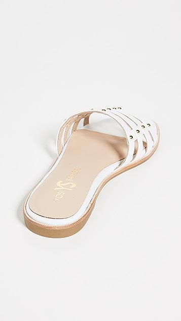 Yosi Samra Cara Strappy Slides