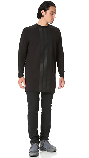 Y-3 Y-3 Stripes Long Sleeve Tee