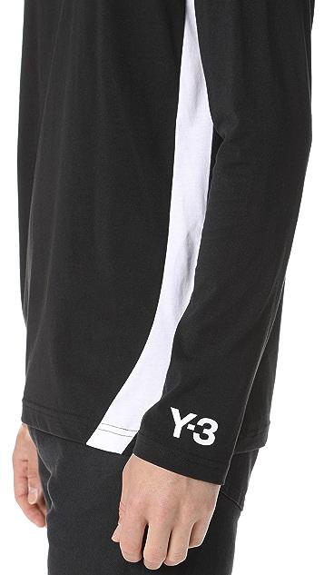 Y-3 Y-3 Stripes Long Sleeve Tee
