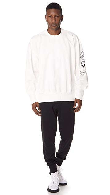Y-3 Graphic Crew Sweatshirt