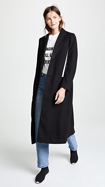 5a4bb79cf23 Y-3 Tailored 3 Stripe Wool Coat