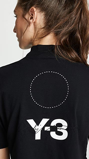 Y-3 Stacked Logo Tee