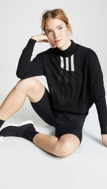 Y-3 Layered Knit Crop Sweater