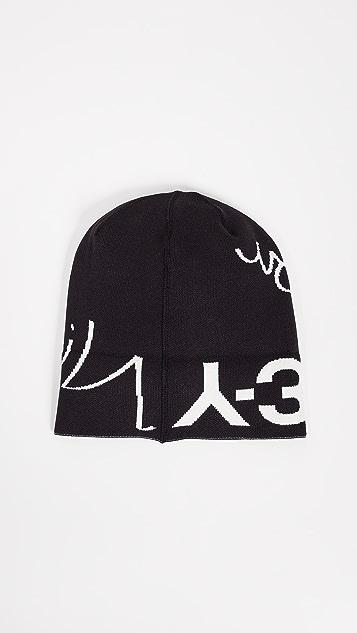 Y-3 Slogan Beanie Hat