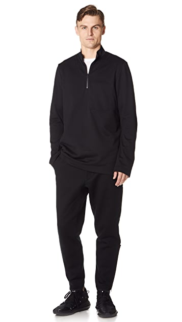 Y-3 M Sashiko Half Zip Sweater
