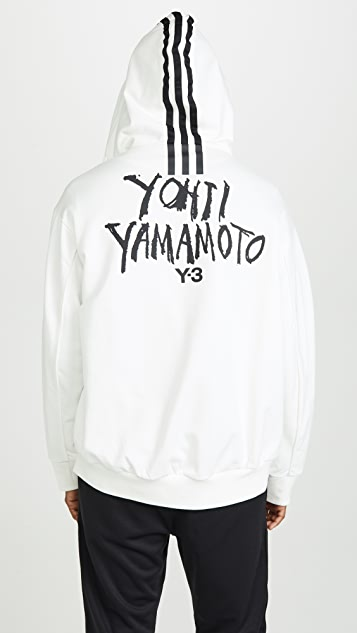 Y-3 M Signature Graphic Full Zip Hoodie
